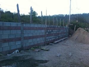 New Retaining wall at Church
